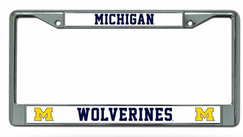Michigan Wolverines NCAA College Chrome License Plate Frame