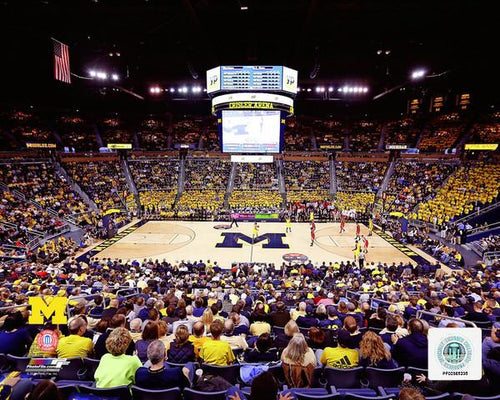 "Michigan Wolverines Crisler Center NCAA College Basketball 8"" x 10"" Photo"