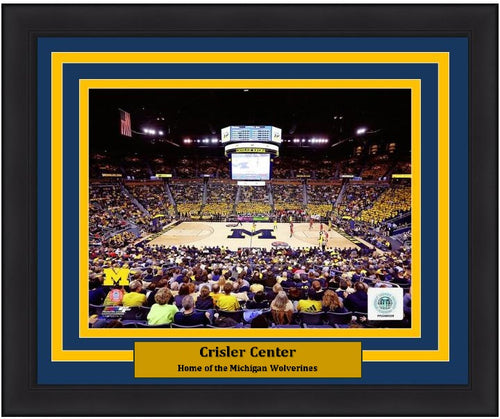 "Michigan Wolverines Crisler Center NCAA College Basketball 8"" x 10"" Framed and Matted Photo"