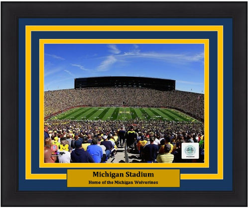 "Michigan Wolverines Michigan Stadium NCAA College Football 8"" x 10"" Framed and Matted Photo - Dynasty Sports & Framing"