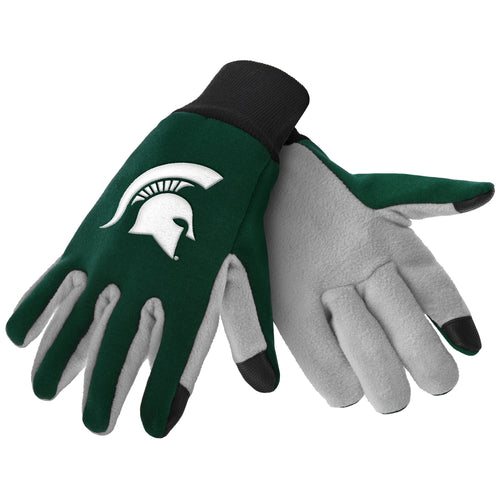 Michigan State Spartans NCAA College Texting Utility Gloves - Dynasty Sports & Framing
