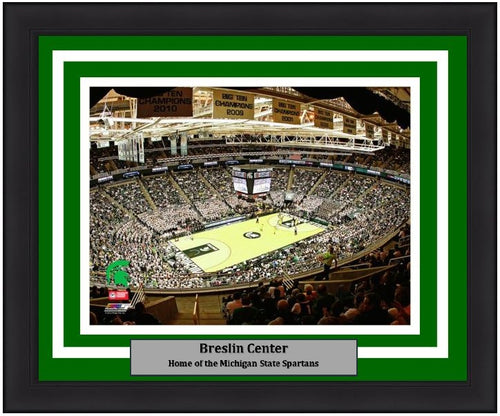 "Michigan State Spartans Breslin Center NCAA College Basketball Stadium 8"" x 10"" Framed and Matted Photo"