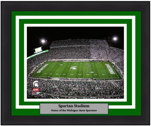 "Michigan State Spartans Spartan Stadium NCAA College Football 8"" x 10"" Framed and Matted Photo"