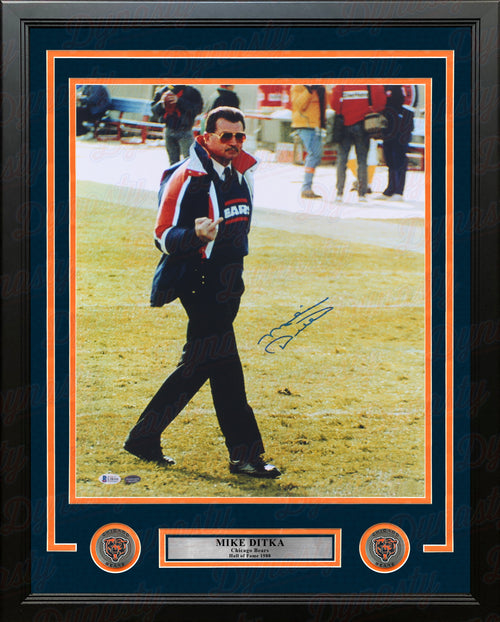 "Mike Ditka Chicago Bears Autographed 16"" x 20"" Framed Football Photo - Dynasty Sports & Framing"