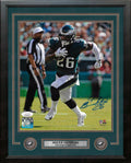 Miles Sanders in Action Philadelphia Eagles Autographed Framed Football Photo - Dynasty Sports & Framing