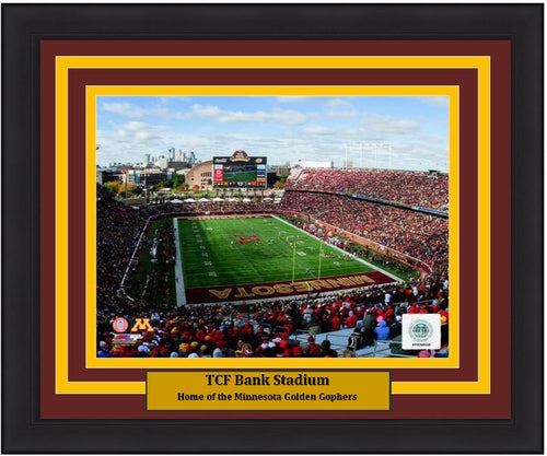 "Minnesota Golden Gophers TCF Bank Stadium NCAA College Football 8"" x 10"" Framed and Matted Photo"