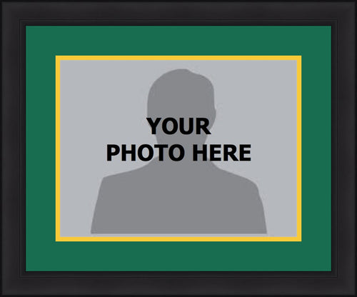 NHL Hockey Photo Picture Frame Kit - Minnesota Wild (Green Matting, Yellow Trim) - Dynasty Sports & Framing