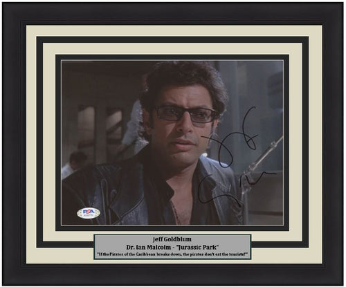 "Jeff Goldblum Autographed Jurassic Park 8"" x 10"" Framed Photo"