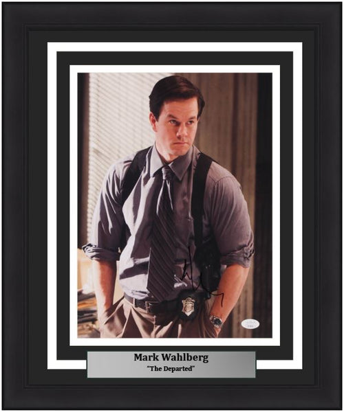 "Mark Wahlberg Autographed The Departed 11"" x 14"" Framed Photo"