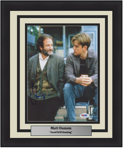 "Matt Damon Autographed Good Will Hunting 8"" x 10"" Framed Photo - Dynasty Sports & Framing"