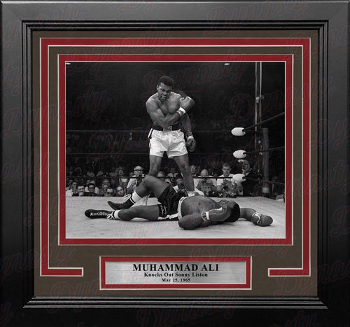 Muhammad Ali Knocks Out Sonny Liston Framed Boxing Photo