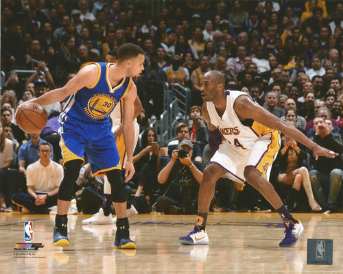 "Steph Curry v. Kobe Bryant NBA Basketball 8"" x 10"" Photo - Dynasty Sports & Framing"