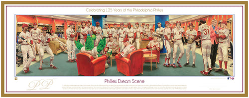 Philadelphia Phillies Exclusive Dream Scene Lithograph Artwork Print by Artist Jamie Cooper - Dynasty Sports & Framing