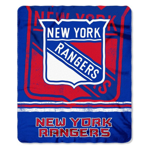 "New York Rangers NHL Hockey 50"" x 60"" Fleece Throw Blanket - Dynasty Sports & Framing"