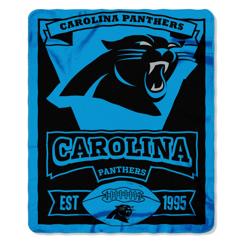 "Carolina Panthers NFL Football 50"" x 60"" Marque Fleece Blanket - Dynasty Sports & Framing"