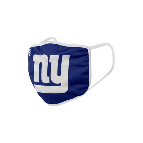 New York Giants Solid Big Logo Face Cover Mask - Dynasty Sports & Framing