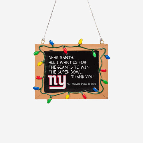 New York Giants Chalkboard Sign Ornament - Dynasty Sports & Framing
