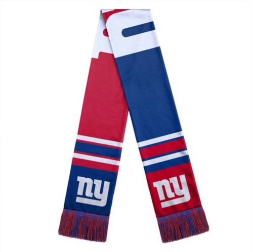 New York Giants Color Block Big Logo Scarf - Dynasty Sports & Framing