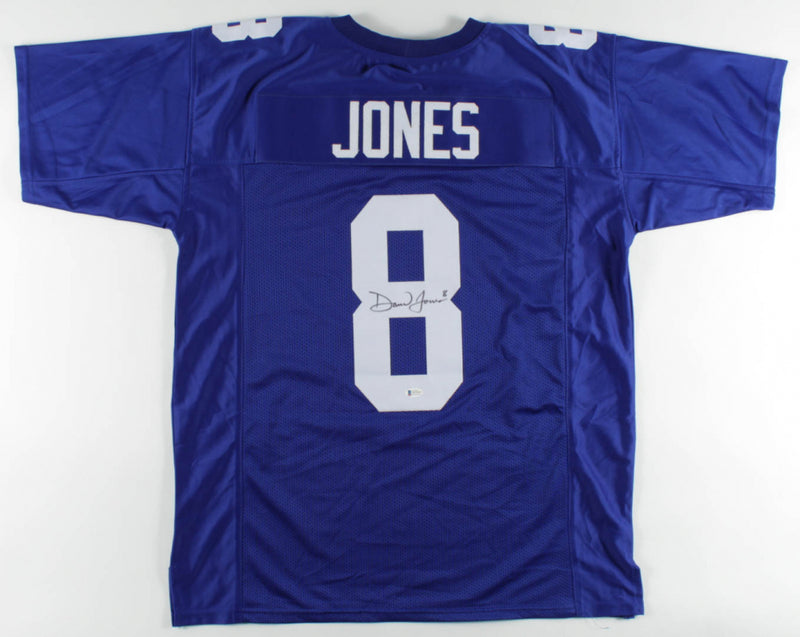 Daniel Jones New York Giants Autographed Football Jersey - Beckett Authenticated - Dynasty Sports & Framing