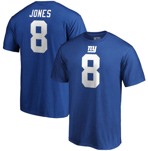 Daniel Jones New York Giants NFL Football Name & Number T-Shirt – Royal Blue - Dynasty Sports & Framing