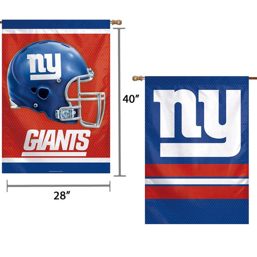 "New York Giants Double-Sided 28"" x 40"" Banner - Dynasty Sports & Framing"