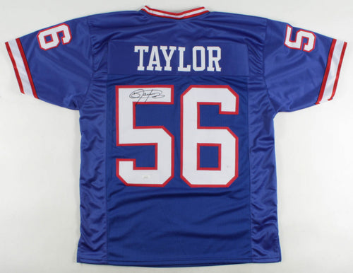 Lawrence Taylor New York Giants Autographed Royal Blue Football Jersey - Dynasty Sports & Framing