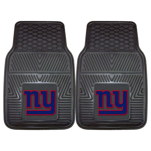 New York Giants NFL Football Front Row Vinyl Heavy Duty Car Mat - 2 Piece - Dynasty Sports & Framing