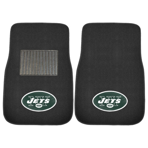 New York Jets NFL Football 2 Piece Embroidered Car Mat Set - Dynasty Sports & Framing