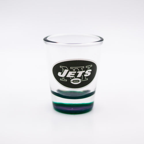 New York Jets Clear Highlight Shot Glass - Dynasty Sports & Framing