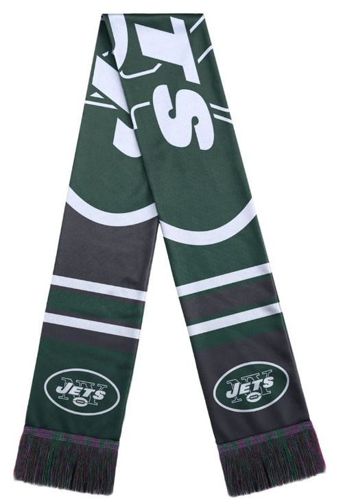 New York Jets Color Block Big Logo Scarf - Dynasty Sports & Framing