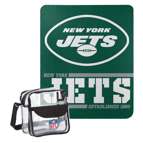 "New York Jets Dream Team Tote with 50"" x 60"" Fleece Throw Blanket - Dynasty Sports & Framing"
