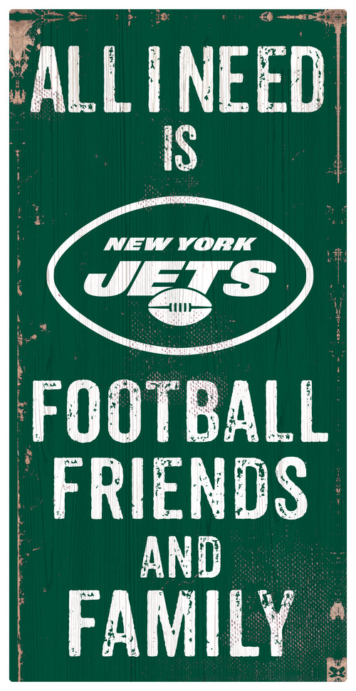 New York Jets Football and My Friends & Family Wood Sign - Dynasty Sports & Framing