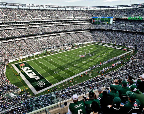 "New York Jets MetLife Stadium Aerial View 8"" x 10"" Football Photo - Dynasty Sports & Framing"