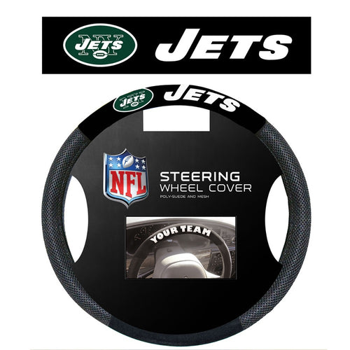 New York Jets Football Steering Wheel Cover - Dynasty Sports & Framing