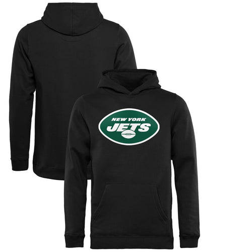 New York Jets Youth Dri Fit Logo Team Color Fleece Pullover Hoodie - Black - Dynasty Sports & Framing