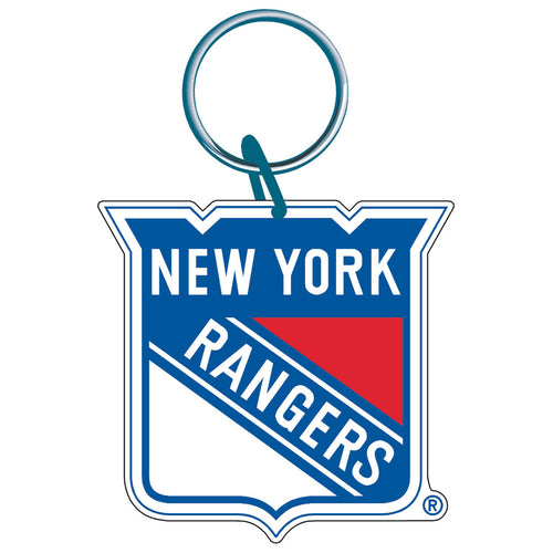 New York Rangers Acrylic Logo Keychain - Dynasty Sports & Framing