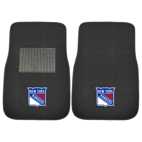 New York Rangers NHL Hockey 2 Piece Embroidered Car Mat Set - Dynasty Sports & Framing