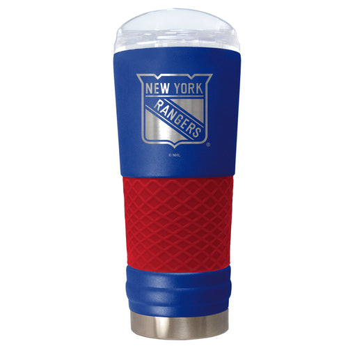 "New York Rangers ""The Draft"" 24 oz. Stainless Steel Travel Tumbler - Dynasty Sports & Framing"