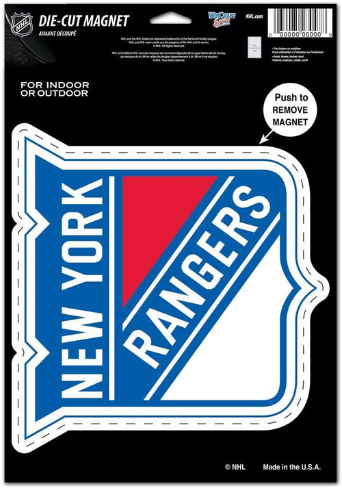 "New York Rangers NHL Hockey 8"" Die-Cut Magnet - Dynasty Sports & Framing"