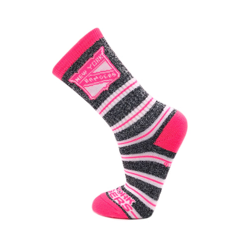 New York Rangers Melange Stripe Pink Socks - Dynasty Sports & Framing