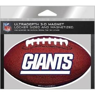 "New York Giants NFL Football 8"" 3D Holographic Magnet"