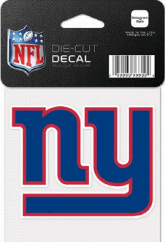 "New York Giants NFL Football 4"" x 4"" Decal - Dynasty Sports & Framing"
