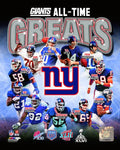 New York Giants All-Time Greats NFL Football Photo - Dynasty Sports & Framing