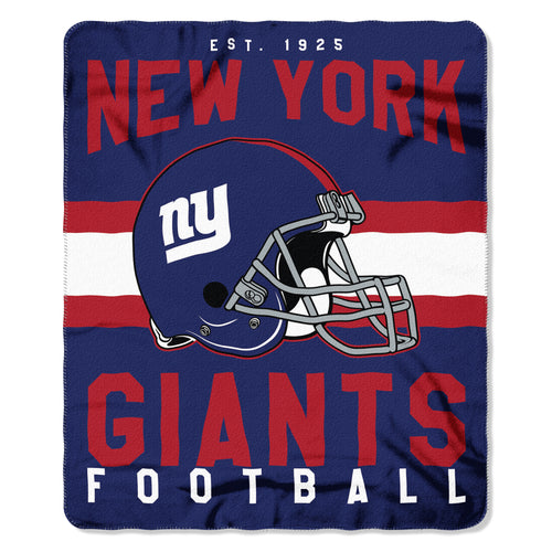 "New York Giants NFL Football 50"" x 60"" Singular Fleece Blanket - Dynasty Sports & Framing"