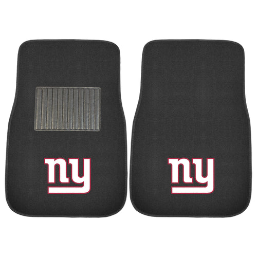 New York Giants NFL Football 2 Piece Embroidered Car Mat Set - Dynasty Sports & Framing