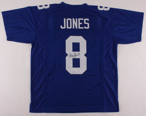 Daniel Jones New York Giants Autographed Football Jersey - Dynasty Sports & Framing