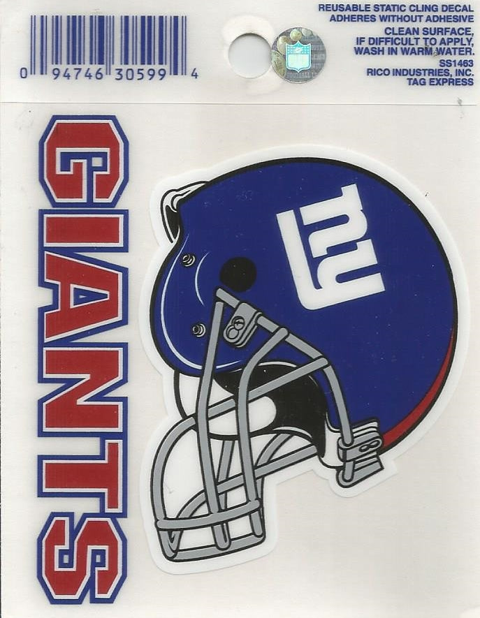New York Giants 3x4 Decal | Giants Car Accessories, Novelties, and ...