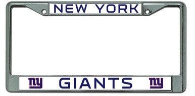 New York Giants Chrome License Plate Frame - Dynasty Sports & Framing