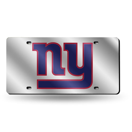 New York Giants NFL Laser Cut License Plate (Silver) - Dynasty Sports & Framing
