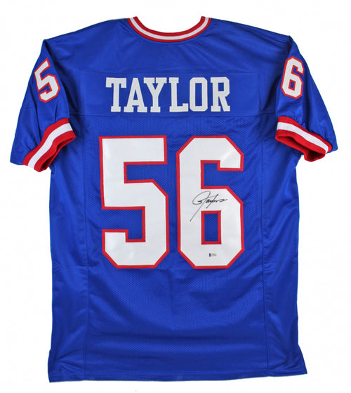 Lawrence Taylor New York Giants Autographed Royal Blue Football Jersey - Beckett Authenticated - Dynasty Sports & Framing